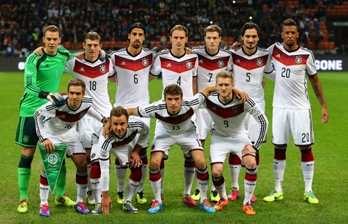 Футболисты немецкой сборной